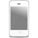 iPhone front white icon