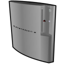 Playstation 3 standing silver icon