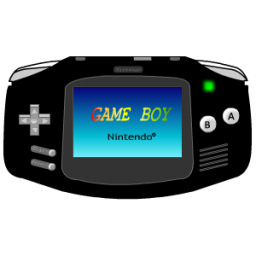 Gameboy Advance black icon