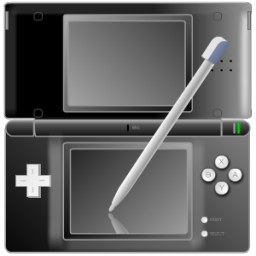 Nintendo DS with pen Black icon