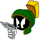 Marvin-Martian-Angry-with-gun icon