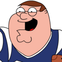 Peter Griffin Football zoomed 2 icon