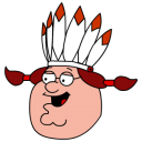 Peter Griffin Indian head icon