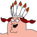 Peter Griffin Indian zoomed 2 icon