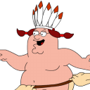 Peter Griffin Indian zoomed icon