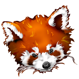 Firefox panda red icon