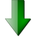 Fleche bas vert icon