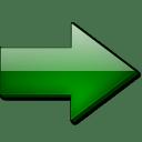 Fleche droite vert icon