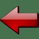 Fleche gauche rouge icon