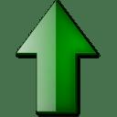 Fleche haut vert icon