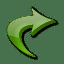 Fleche raccourci icon