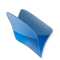 Dossier bleu icon