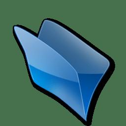 Dossier bleu icon