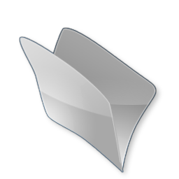 Dossier gris icon