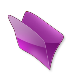 Dossier violet icon