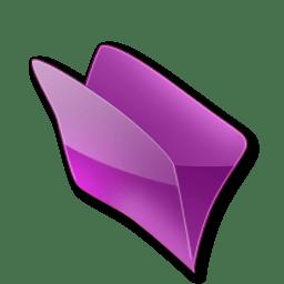 Dossier violet icon
