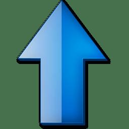 Fleche haut bleue icon