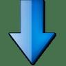 Fleche-bas-bleue icon