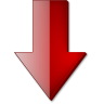 Fleche-bas-rouge icon