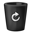 Bin-black-full icon