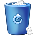 bin blue icon