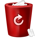 bin red icon