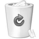 bin white icon