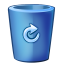 Bin blue full icon
