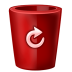 Bin-red-full icon