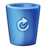 Bin-blue-full icon