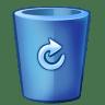 Bin-blue-full icon
