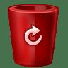 Bin-red-full icon