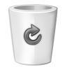 Bin-white-full icon