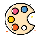Painting palette icon