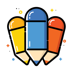 Colorful pencil icon