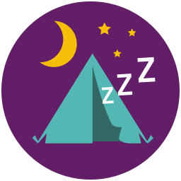Tent Sleep icon