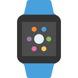Apple watch blue icon