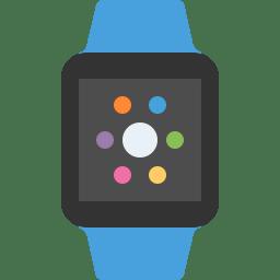 Apple watch blue icon