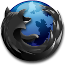 Black Firefox icon