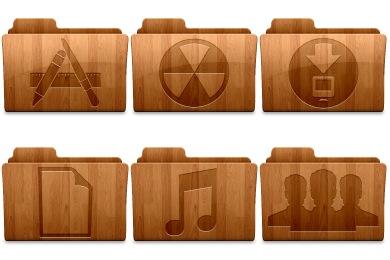 Wood Folders Icons