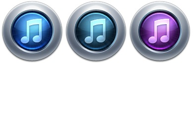 iTunes 10 Iconset (3 icons) | ToffeeNut Design