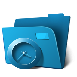 folder clock icon