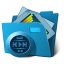 Folder multimedia icon