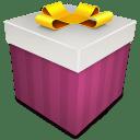 Christmas Gift magenta icon