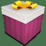 Christmas-Gift-magenta icon