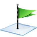 Windows 7 flag green icon