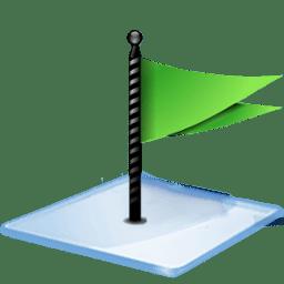 Windows 7 flag green icon