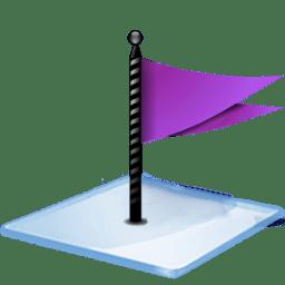 Windows 7 flag purple icon
