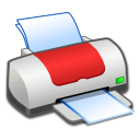 Hardware-Printer-Red icon