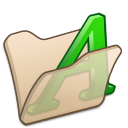 folder beige font1 icon